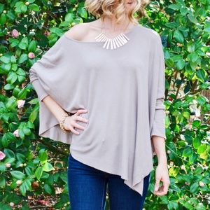 Tan Asymmetrical Tunic